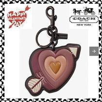 Coach Leather Heart and Arrow Bag Charm Key Chain Ring Fob 79773 New Photo