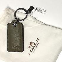 Coach Leather Key Chain Fob Ring Bottle Opener Army Green 64140 New With Tag Bag Photo