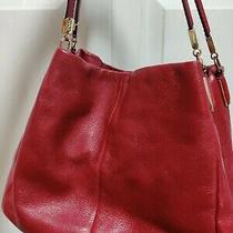 Coach Leather Madison Phoebe Classic Red Shoulder Bag Nwot Photo