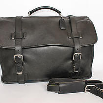 Coach Leather Messenger Computer Bag Soft Briefcase Black  Photo