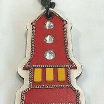 Coach Leather Nasa X Space Rocket Charm W/key Ring Red Chalk Multi 10632  Nwt  Photo