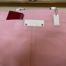 Coach Leather New Baby Pink Inner Outer Pockts (Dustbag). Bag Xl Photo