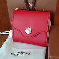 Coach Leather Note Pad - Red Photo