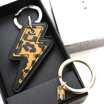 Coach Leather Ocelot Thunderbolt Keychain F64579 - New in Box Photo