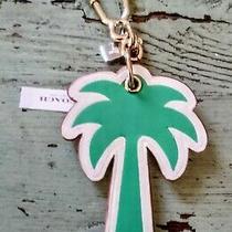 Coach Leather Palm Tree Key Ring Fob Key Chain Bag Charm Bnib Photo
