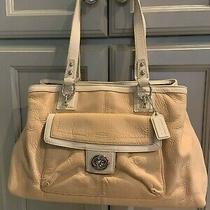 Coach Leather Peach With White Trim Handbag/purse Photo