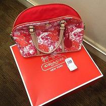 Coach Leather Peyton Floral Domed Satchel F31341 Originally 358.00 Photo