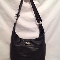 Coach Leather Pieced Duffle Large Crossbody Handbag Purse Black F17116   Photo