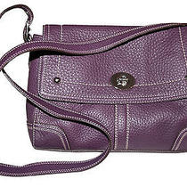 Coach Leather Purple Handbag Photo