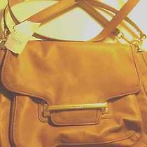 Coach Leather Purse Handbag Champagne W/gold Hardware New Wtags Collectors Item Photo