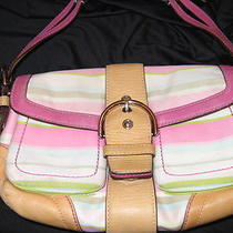 Coach Leather Purse Multi Spring and Summer Colors Photo