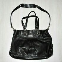 Coach Leather Purse Shoulder Bag Black Large No. C1160-F15513 Photo