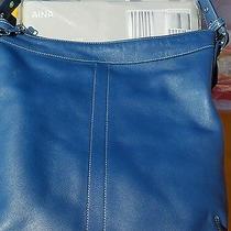 Coach Leather Purse  Shoulder or Crossbody G04d-9188 Blue Photo
