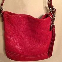Coach Leather Rare Red Cross Body  Photo