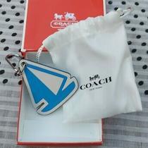 Coach Leather Sail Boat Key Ring Fob Key Chain Bag Charm Bnib Photo