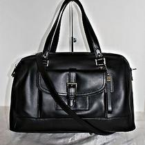 Coach - Leather Satchel  - Black   Photo
