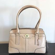 Coach Leather Satchel - Tan/nude With Gold Hardware Photo