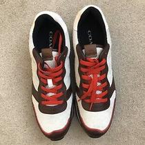 Coach Leather Shoes Men's Hairy Suede Sneakers Red Brown Black G1290 Sz 11.5 Photo