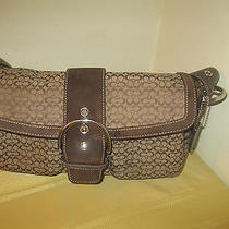 Coach Leather Shoulder Bag Brown Photo