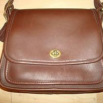 Coach Leather Shoulder Bag Handbag Purse Photo