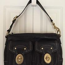 Coach Leather Shoulder Bag With Gold Hardware and Pockets Photo