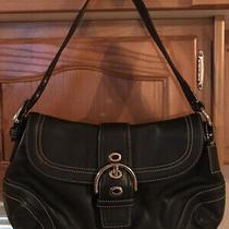 Coach Leather Soho Flap Black Shoulder Handbag Purse Hobo G0778-F10910 Msrp 595 Photo
