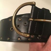 Coach Leather Studded Belt S Dark Brown Black Photo