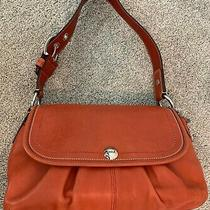 Coach Leather Tomato Red Medium Satchel. Excellent Condition. F13729 Photo
