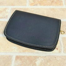 Coach Leather Wallet Navy Coin   Land Fasteners Photo