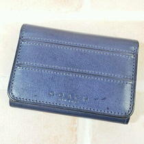 Coach Leather Wallet Navy Vintage Compact Coach Photo