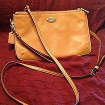 Coach Leather Wallet/purse - Camel Color Photo