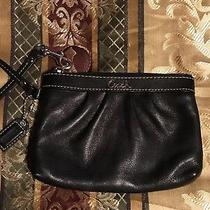 Coach Leather Wallet Wristlet Black Photo