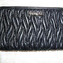 Coach Leather Wristlet Black Photo
