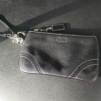 Coach Leather Wristlet Clutch Black Photo