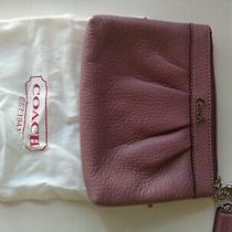 Coach - Leather Wristlet - Pink Pebble Grain Leather - Wrist Strap -  Photo