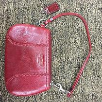 Coach Leather Wristlet Red Pre-Owned Photo