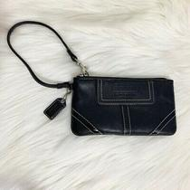 Coach Leather Wristlet Wallet Black Photo