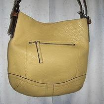 Coach Leather Yellow Mustard Shoulder Handbag Photo