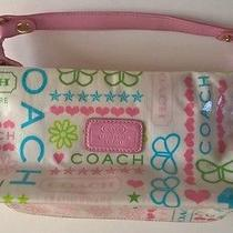 Coach Leatherware Butterflies Hearts Plastic Makeup/travel Bag  Photo
