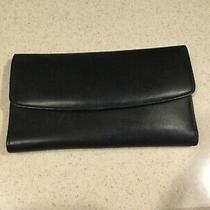 Coach Leatherware Vintage Smooth Black Leather Large Organizer Checkbook Wallet Photo