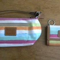 Coach Leatherware Water Color Pouchette Mini Handbag & Matching Wallet Photo
