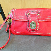 Coach Legacy 65th Anniv. Wristlet/clutch in Red Leather - Style 40708 - Euc Photo