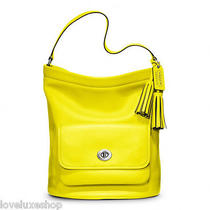 Coach Legacy Archival Glove Tanned Leather Bucket Bag Purse Citrine Yellow Rare Photo