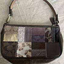 Coach Legacy Holiday Patchwork Demi Purse Small Bag K05s-7071 Brown Suede Purple Photo