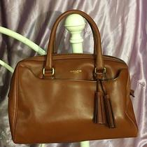 Coach Legacy Leather Haley Satchel Handbag Limited Edition Cognac Well Loved  3 Photo