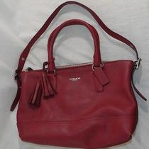 Coach Legacy Leather Molly Satchel Black Cherry Photo