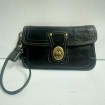 Coach Legacy Limited Edition 65th Anniversary Black Leather Turnlock Wristlet Photo