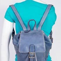 Coach Legacy Medium Blue Soft Leather Shoulder Hobo Tote Satchel Backpack Bag Photo