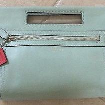 Coach Legacy Mint Basket Purse Designer Handbag Clutch Wristlet Rare Photo