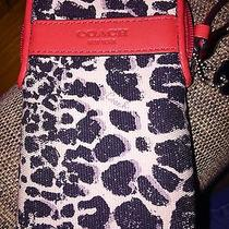 Coach Legacy Ocelot Universal Case Wristlet for Phone Camera Mp3 - 62083 - New Photo